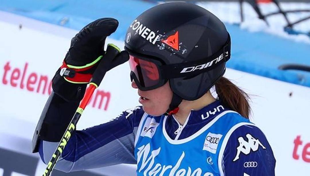 Sofia Goggia, 28 anni, niente Mondiali di Cortina. Epa